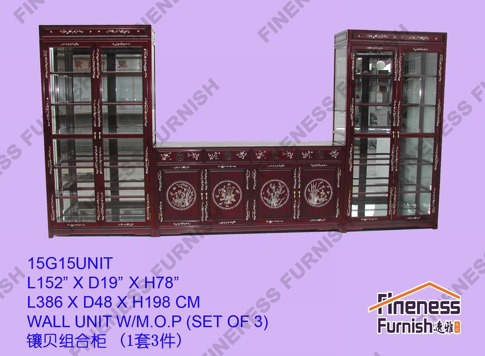 Wall Unit W/M.O.P. (Set of 3)